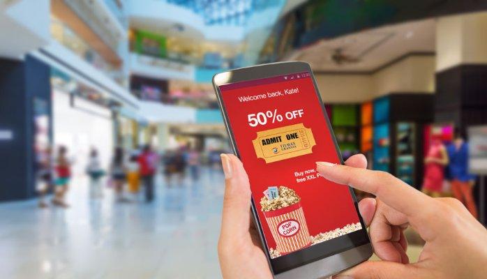 Aplicación de beacons en centros comerciales